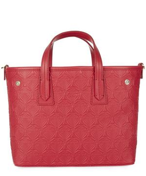 Mini Marlborough Tote Bag in Embossed Iphis