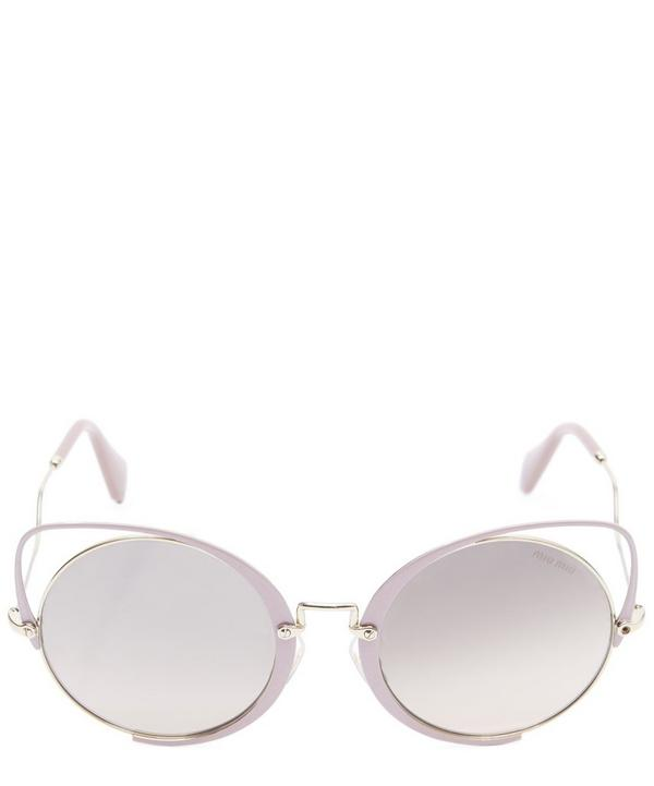 Wire Cut-Out Cat-Eye Sunglasses