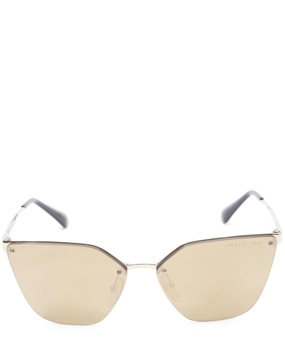 Cinéma Hexagonal Frameless Sunglasses