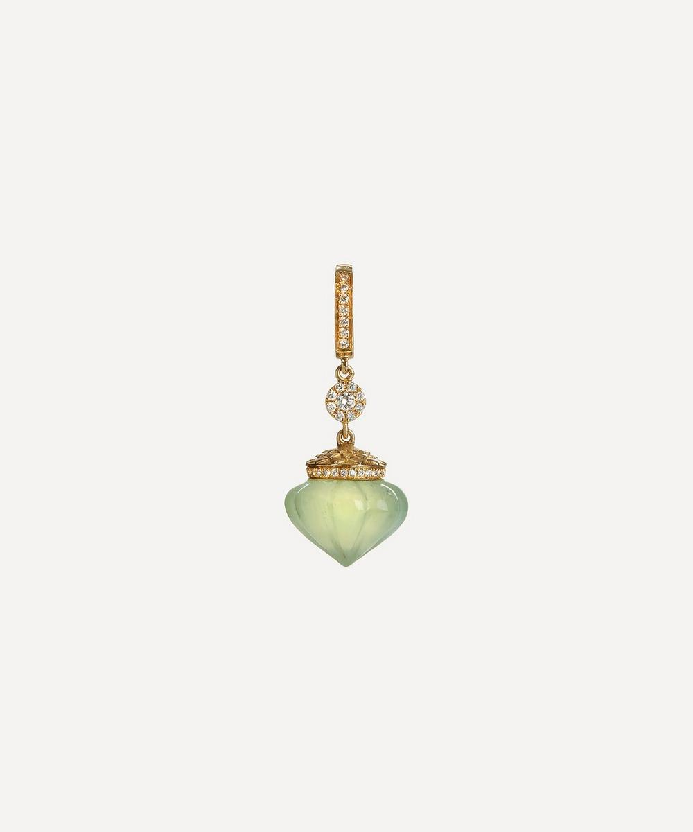 Touch Wood Gold Prehnite Charm