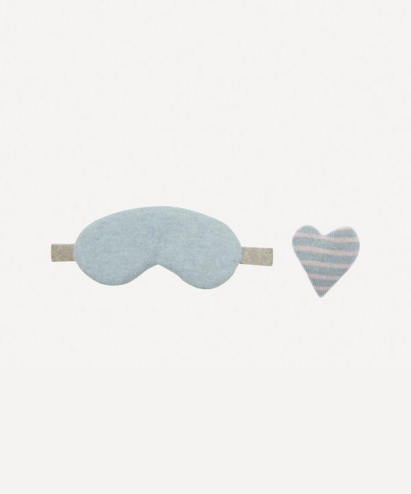 Row Pinto - Forget-Me-Not Knitted Cashmere Liberty Print Eye Mask Set