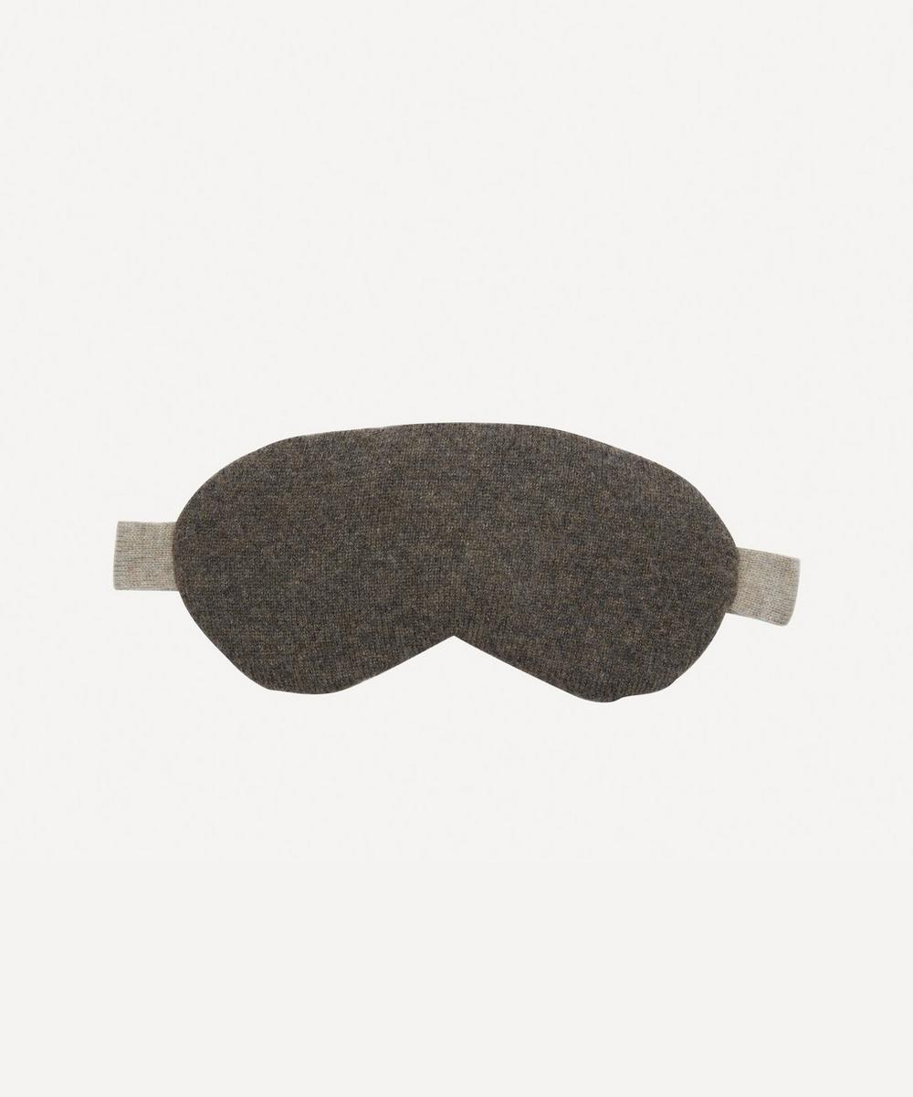 Ptarmigan Knitted Cashmere Liberty Print Eye Mask
