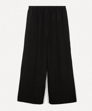 Flared Silk Trousers