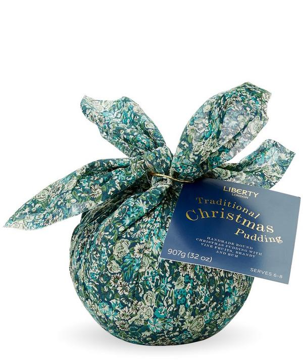 Chive Print Traditional Christmas Pudding