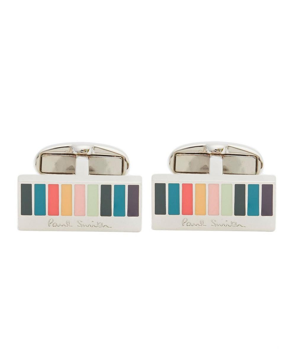 Rectangle Multi-Stripe Cufflinks