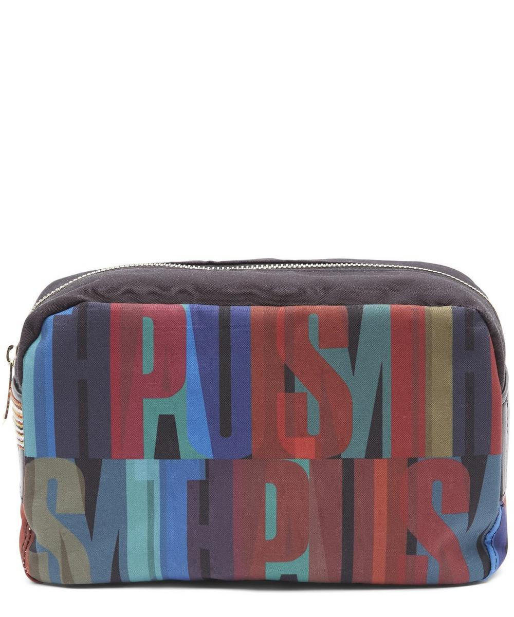 Typography Print Washbag