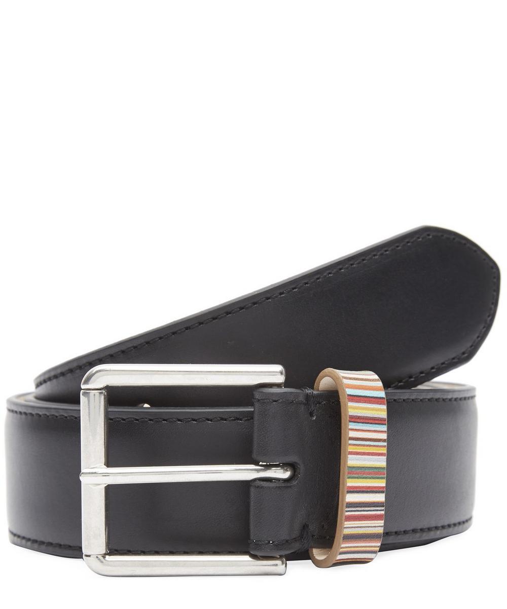 Multi Stripe Keeper Belt