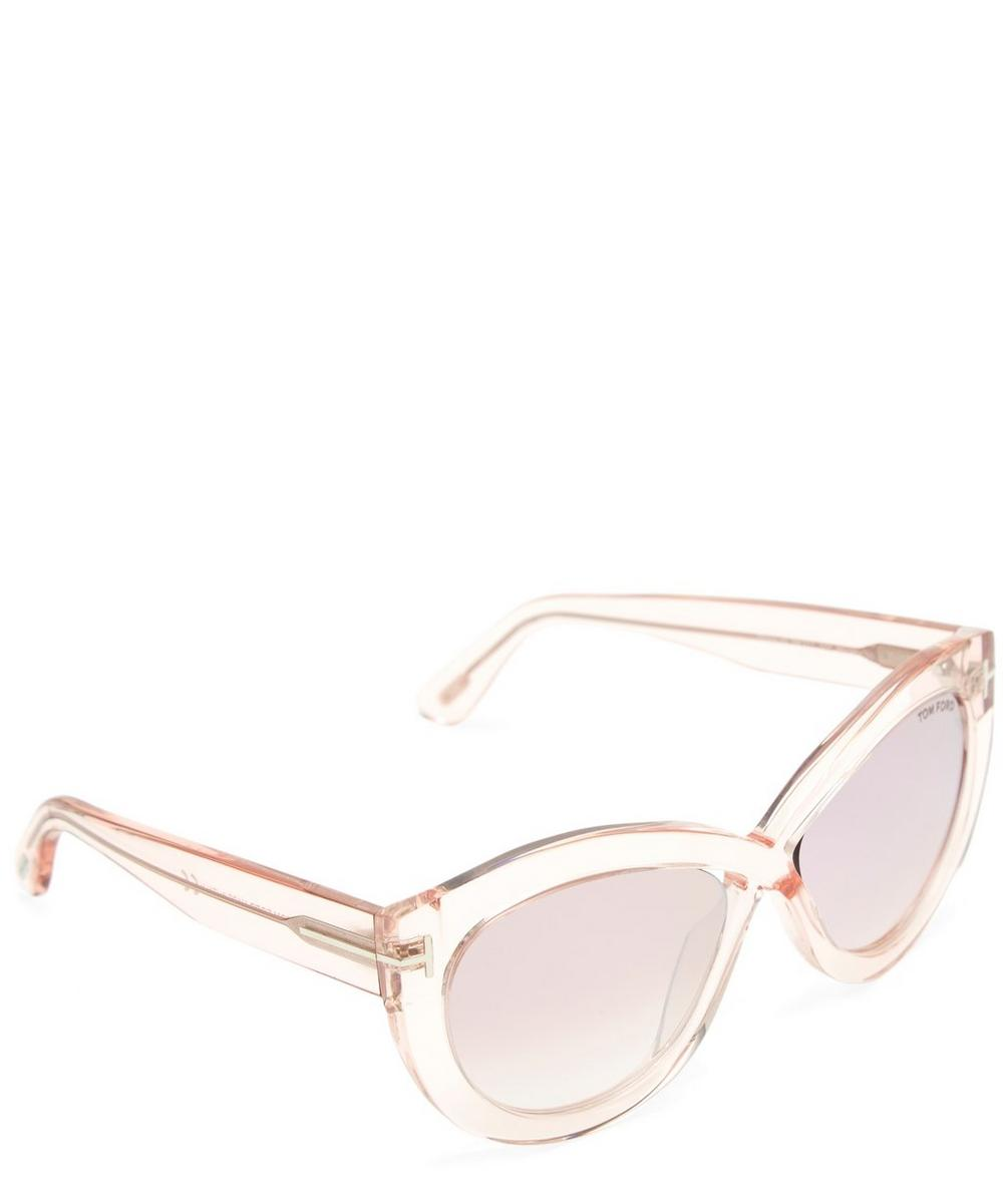 4c25821bee Clear Acetate Oval Sunglasses