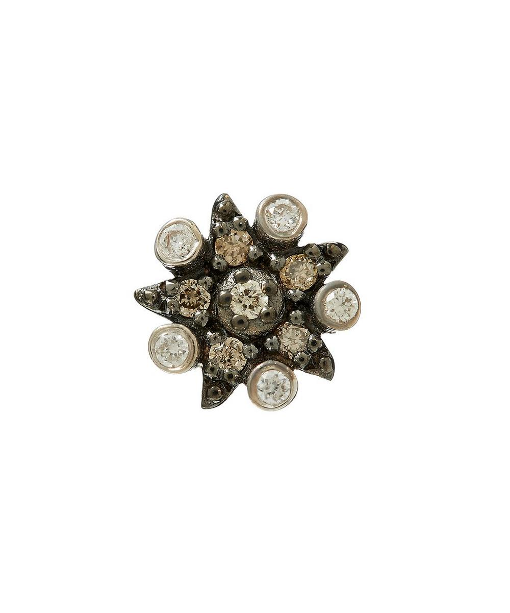Kismet by Milka Eclectic Single Star Stud Earring with Diamonds KNkC9pRox