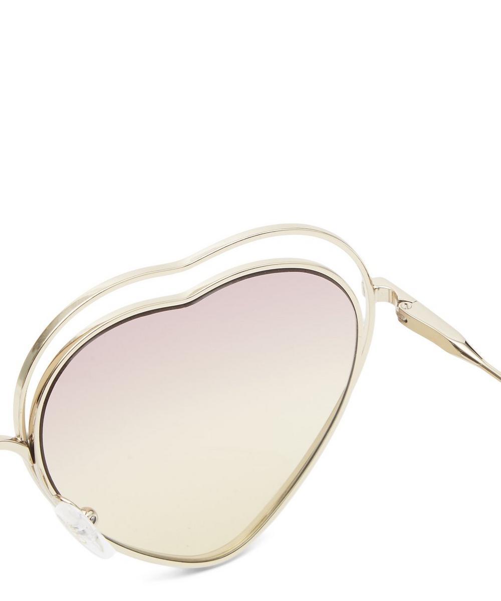5ef34501b9 Poppy Love Heart-Shaped Sunglasses