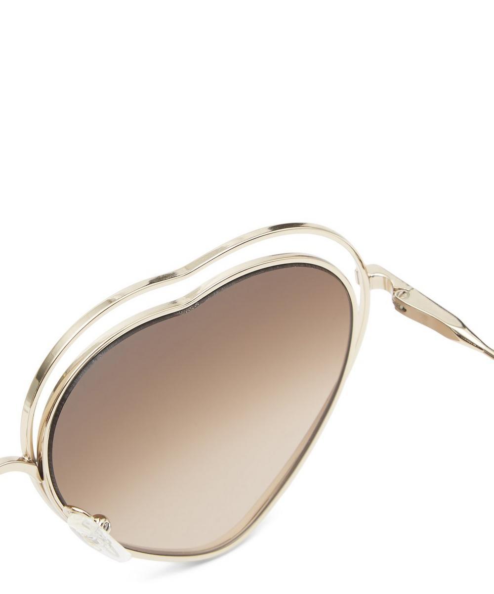 9adb357f59 Chloé Poppy Heart-shaped Sunglasses