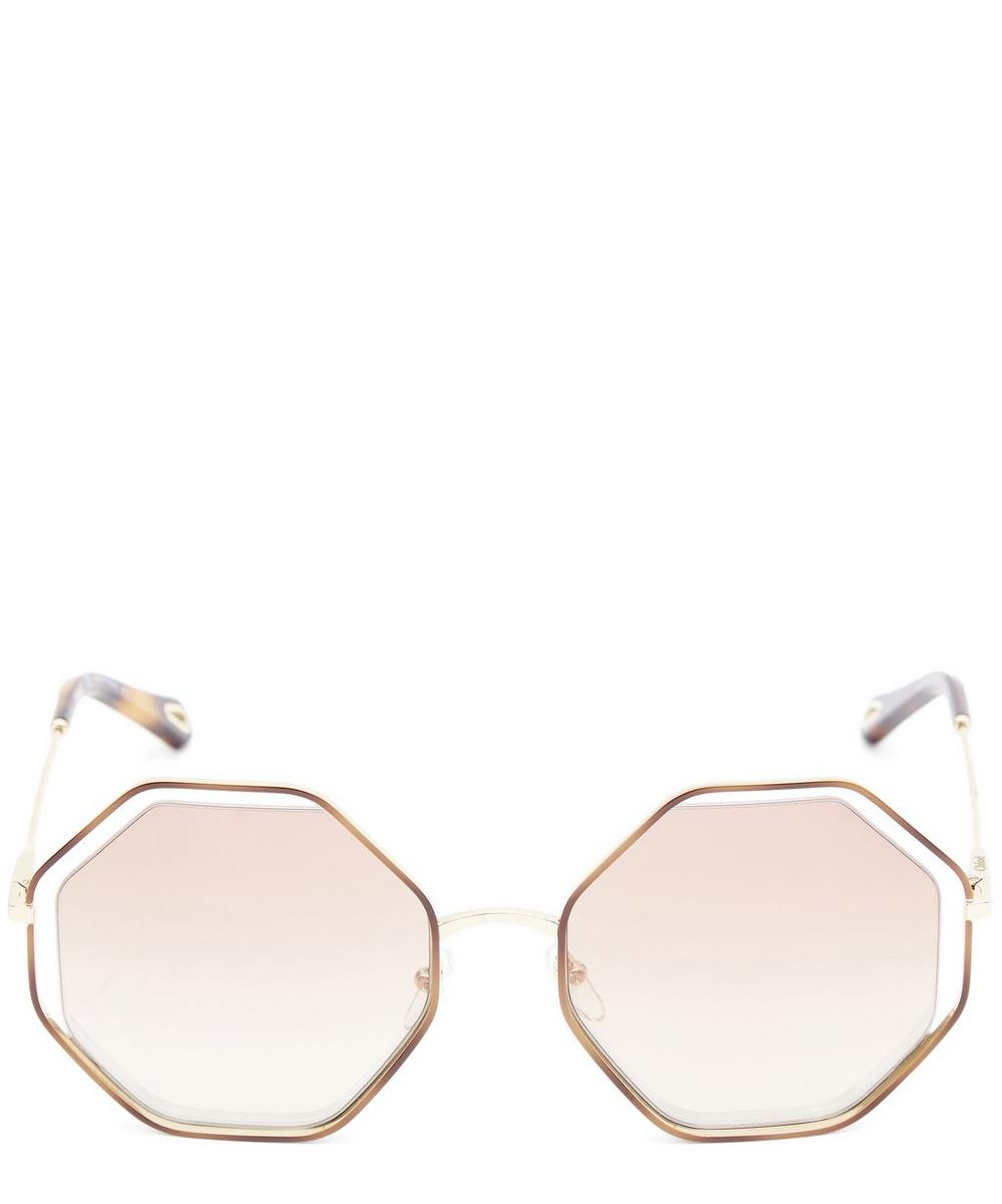 7cb25aa942f ChloÉ Poppy Hexagon Sunglasses In Brown