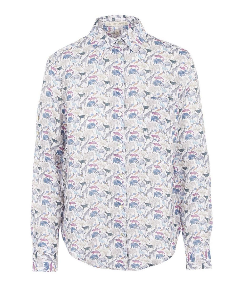 A Queue For The Zoo Women's Linen Bryony Shirt