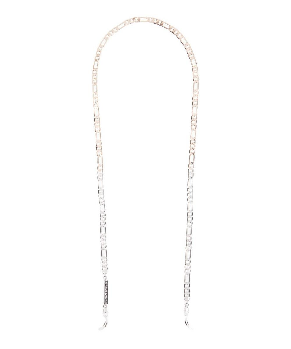 It plateado del gafas rosa blanco marco Cadena en oro Flip y Rose 8Rnqptw4O