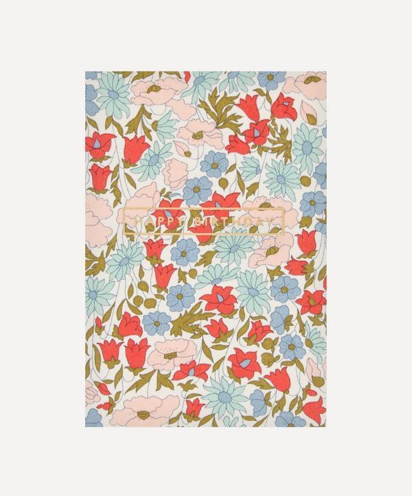 Liberty - Poppy Daisy Cotton-Covered Happy Birthday Card