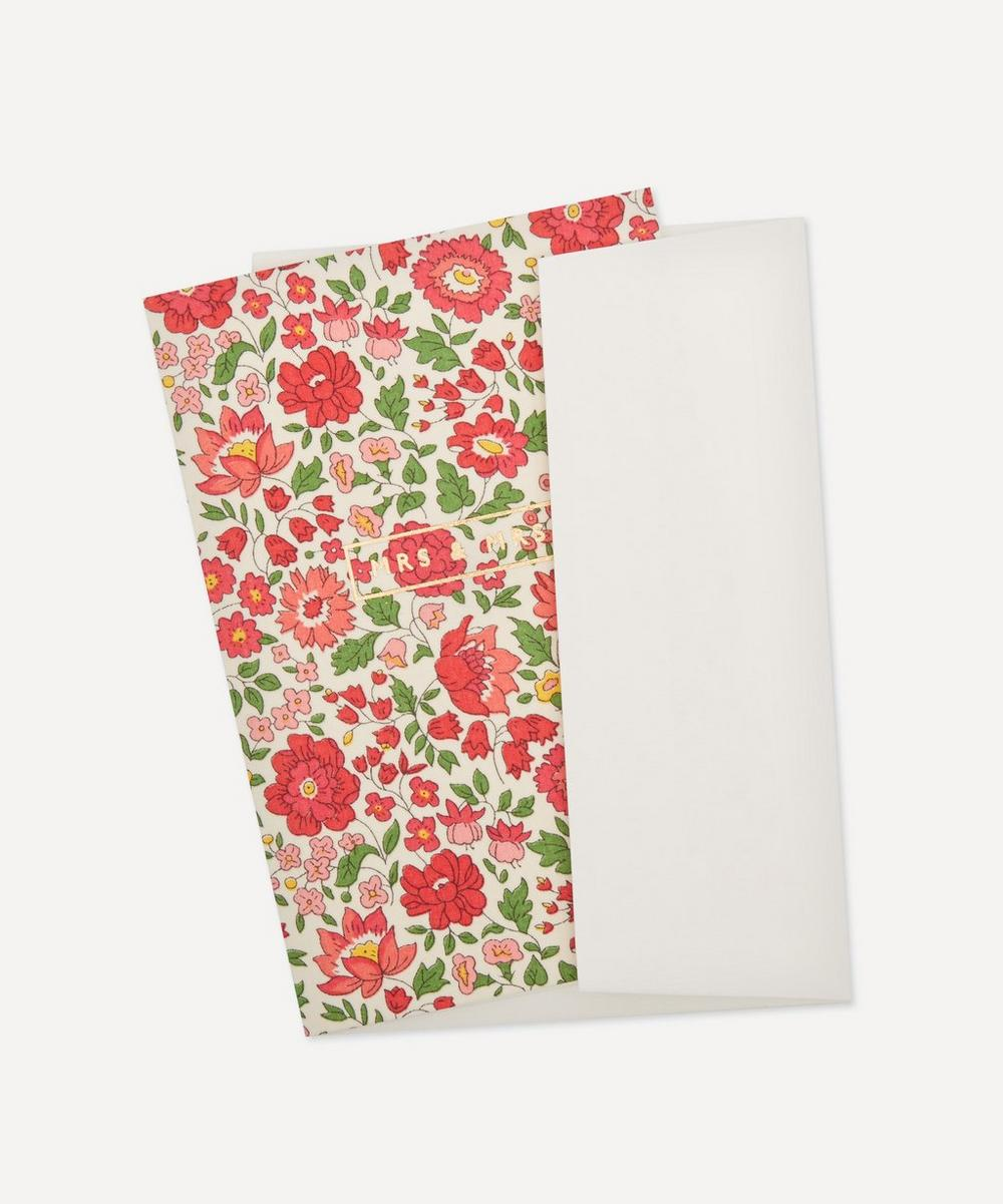 Danjo Liberty Print Mrs and Mrs Card