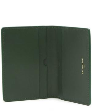 Text Front Leather Folded Card Holder