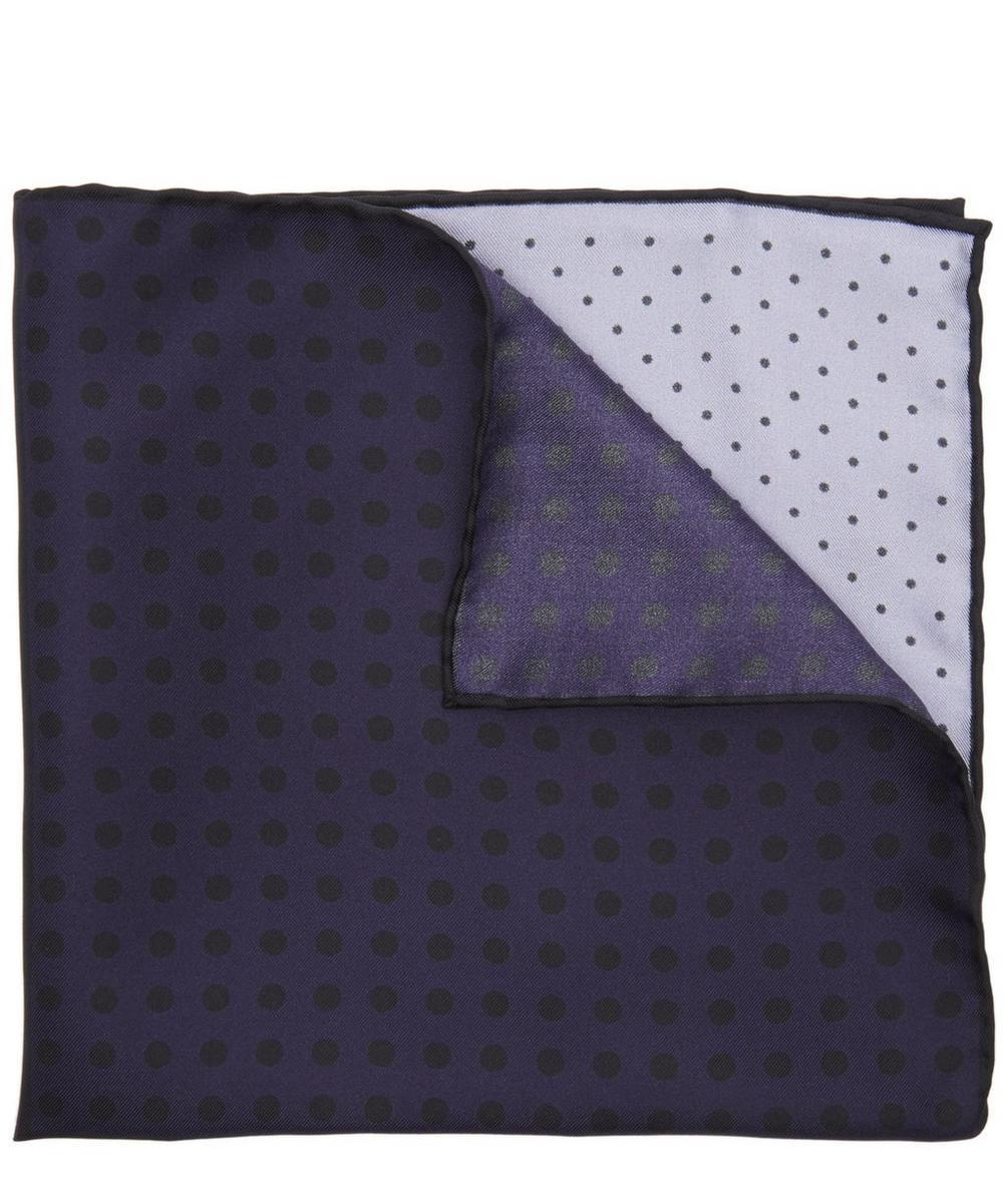 Four Colour Block Dot Pocket Square