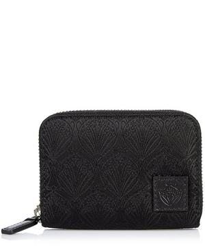 Zipped Coin Wallet in Nylon Jacquard