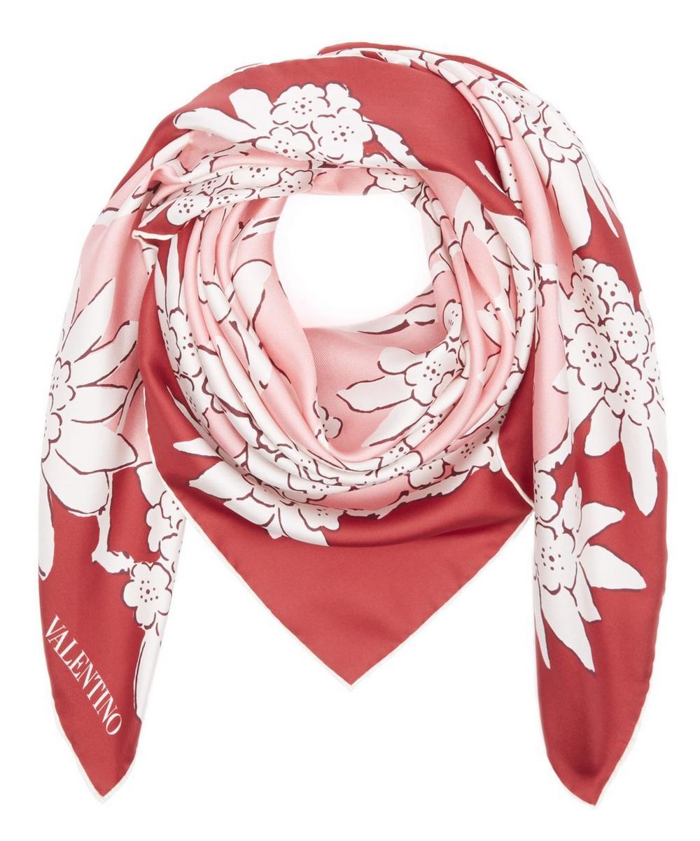 Rhododendron Square Silk Scarf