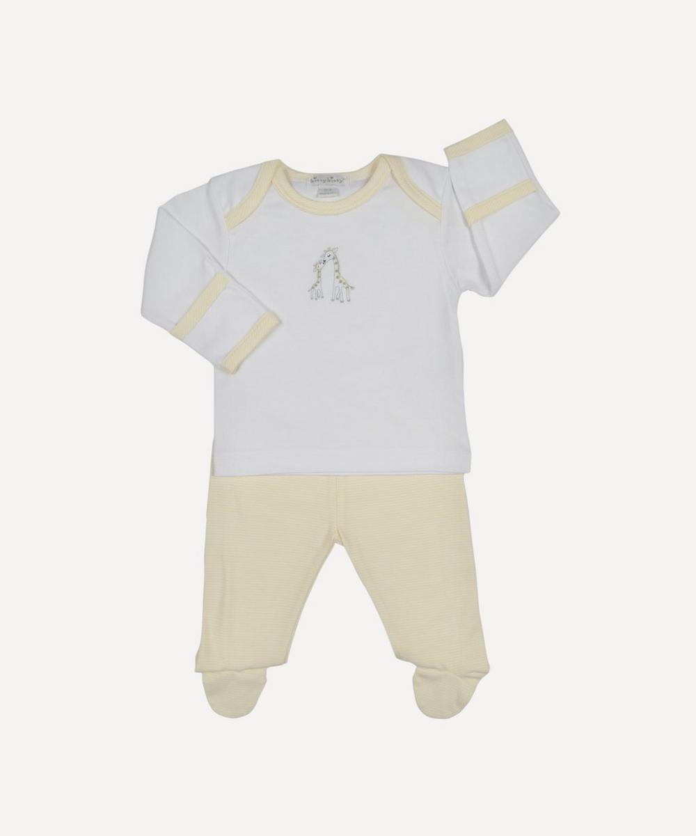 GIRAFFE FOOTED PANT SET 0-9 MONTHS