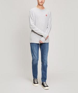 Mel Small AA Logo Long Sleeve Cotton T-Shirt