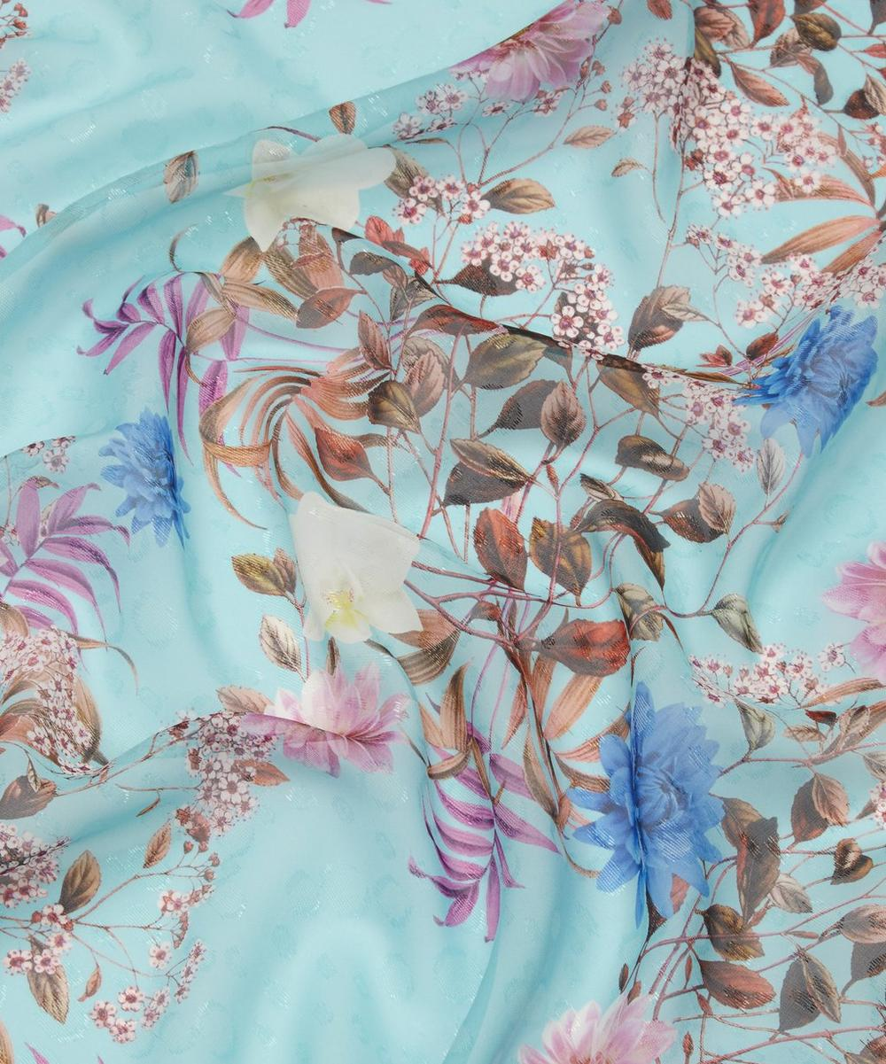 Floral Silk Satin with Shimmer