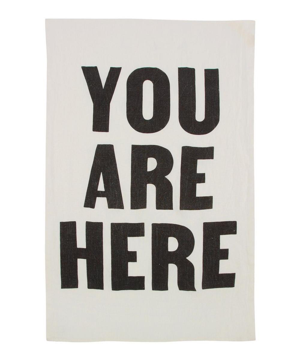 You Are Here Tea Towel