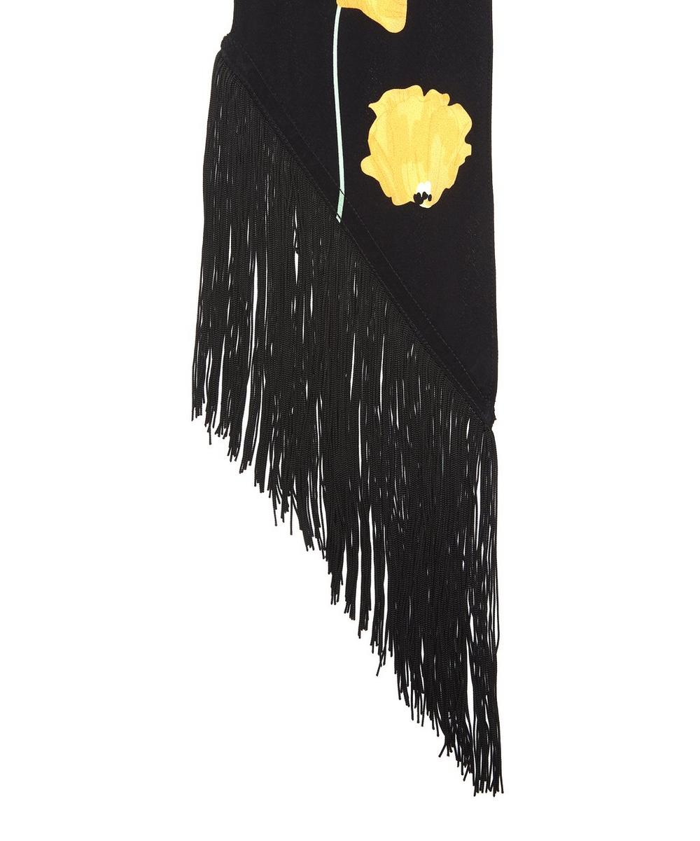 23c56c436fbb4 Poppy Classic Skinny Fringed Scarf | Liberty London