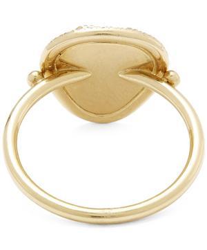 Gold Starlight Triangle Diamond Slice Pavé Ring