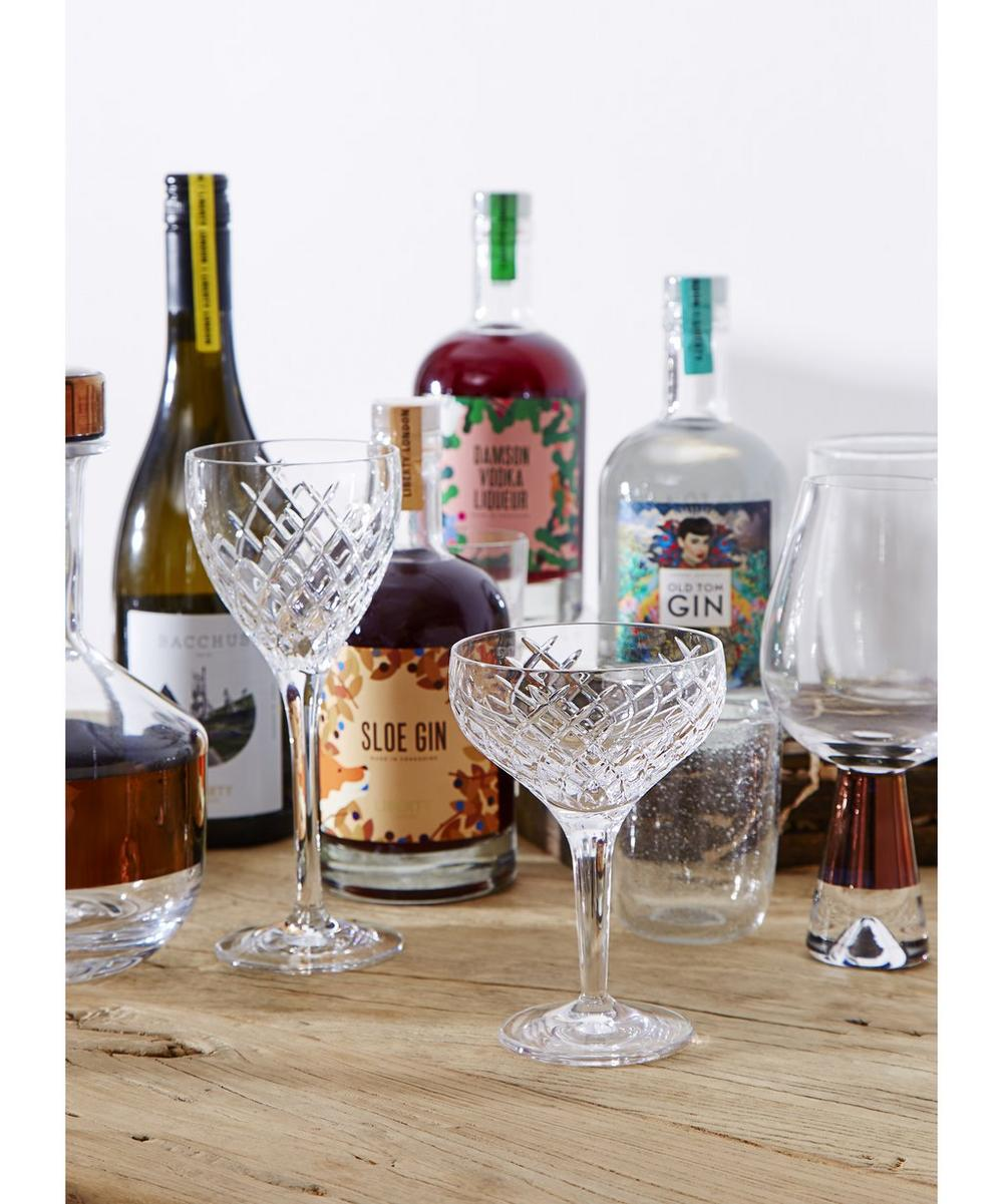 Barwell Cut Crystal Champagne Coupe