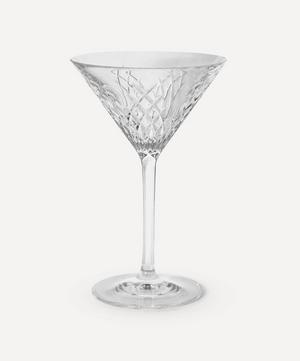 Barwell Cut Crystal Martini Glass