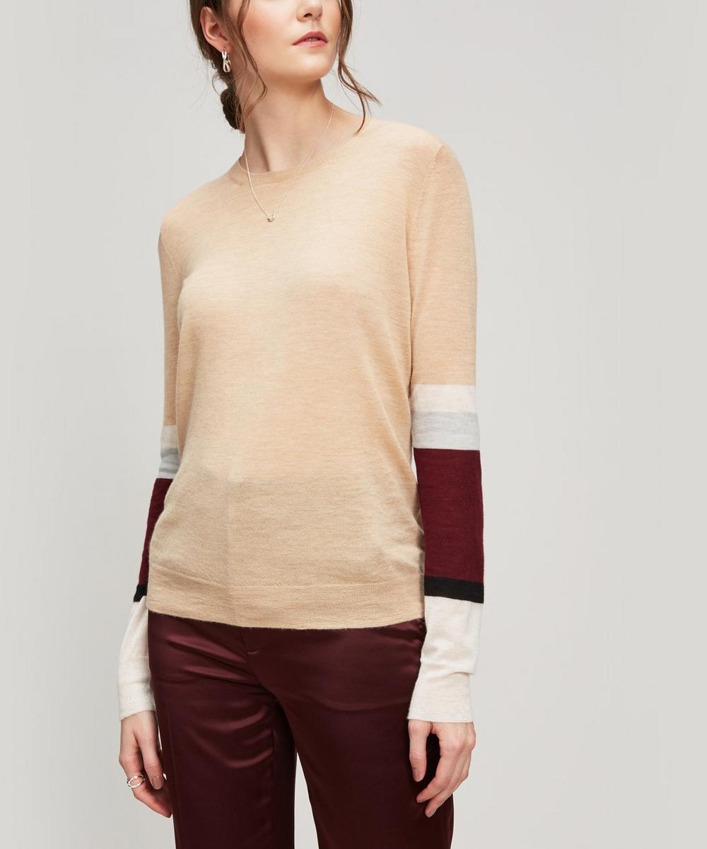772d4c6b8 Cashmere Stripe Arm Jumper