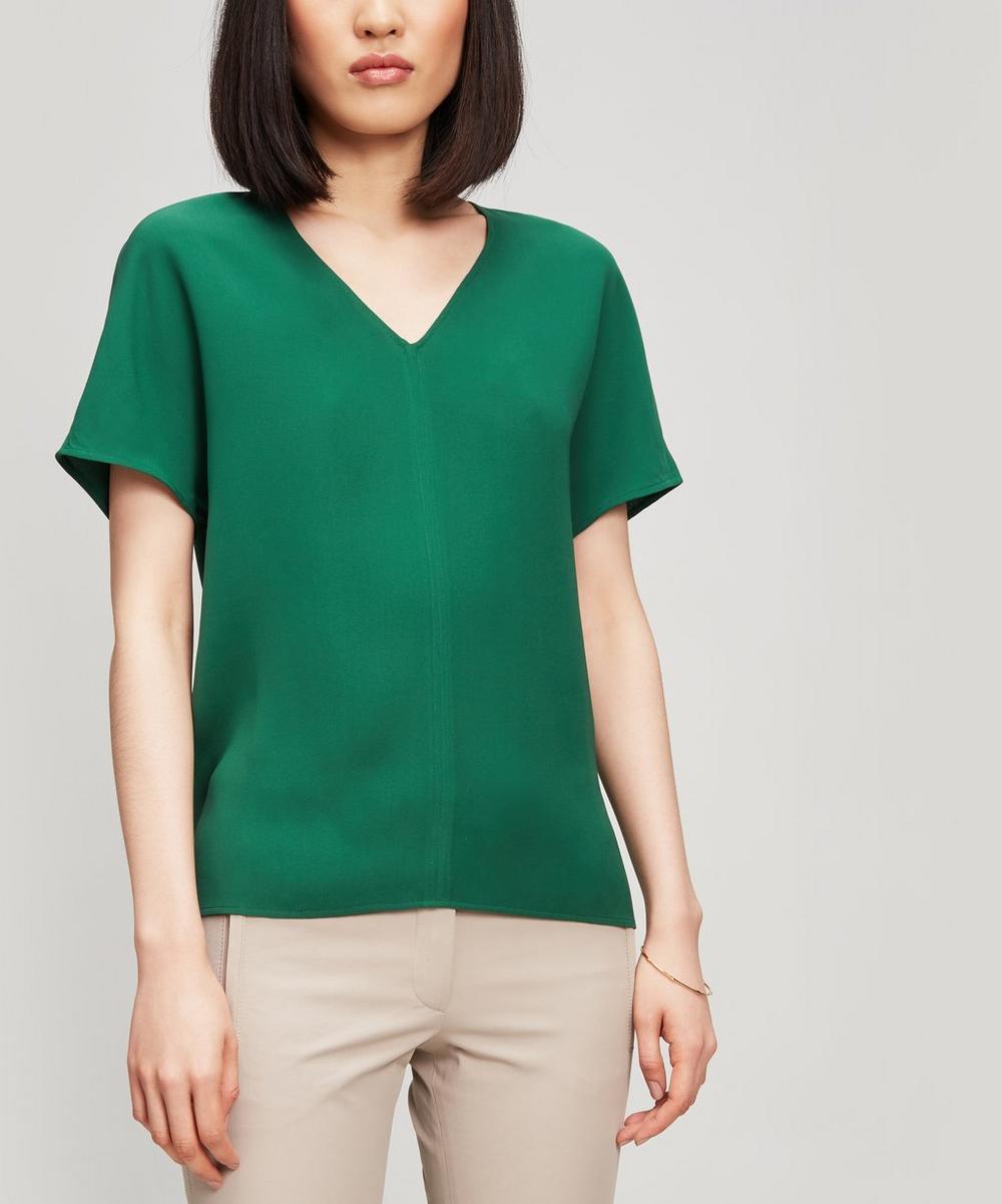 0e23e69236fa3 V-neck Silk T-shirt