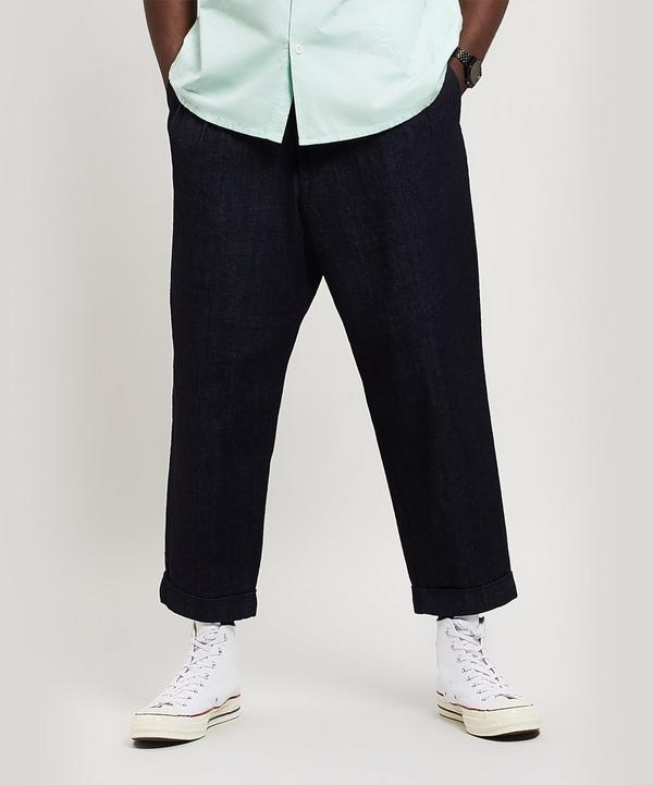 b6eb40a2366 2 Pleat Denim Trousers ...