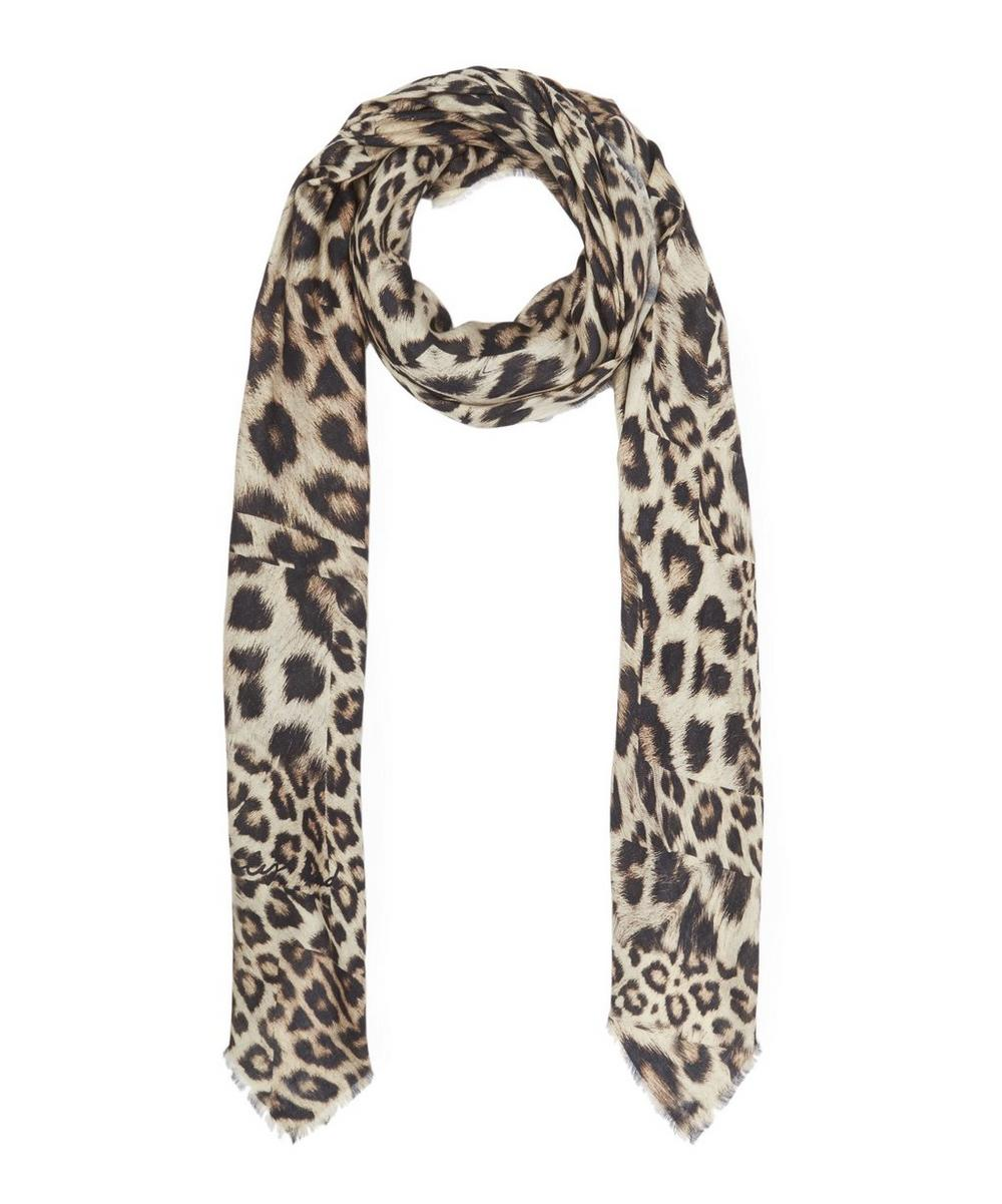 Kitty Leopard Print Scarf