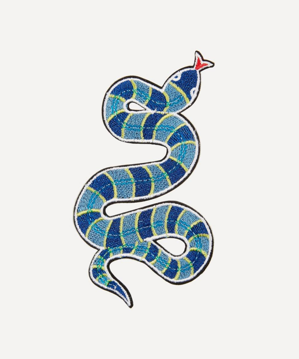 Embroidered snake sticker patch