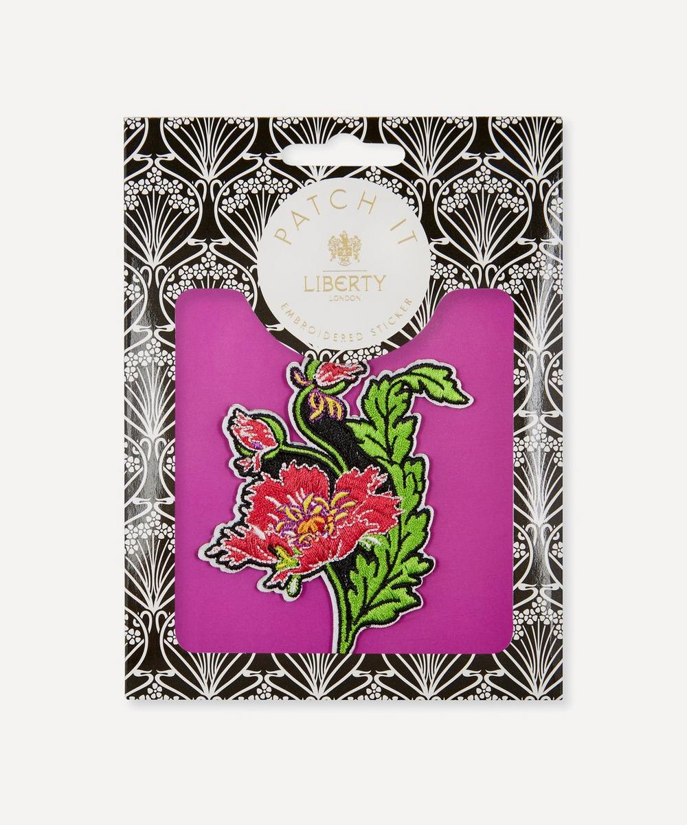 Embroidered Poppy Sticker Patch