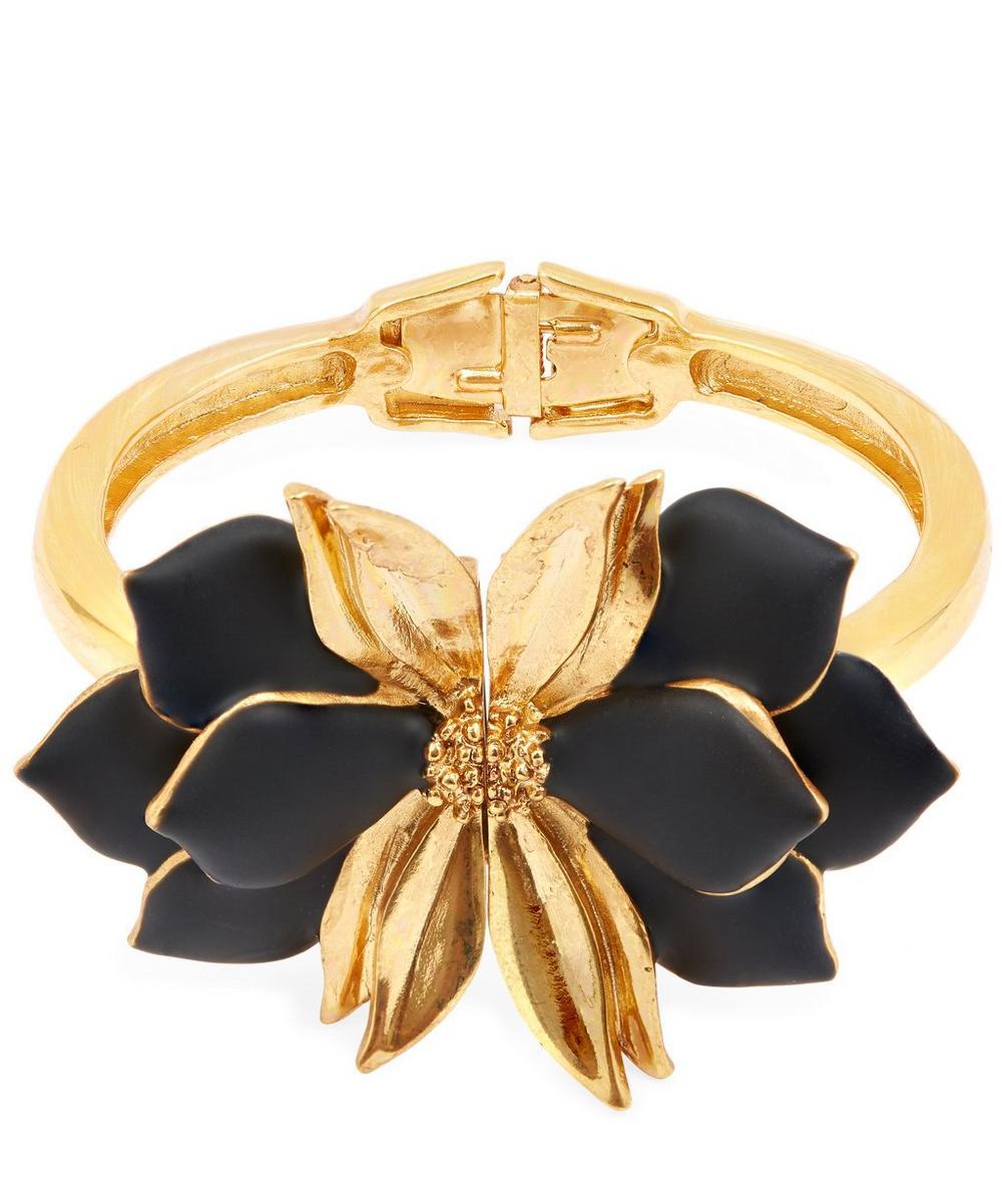 Painted Resin Petal Cuff Bracelet