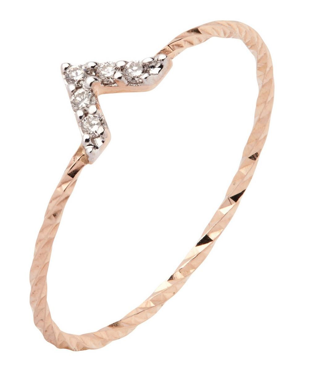 Rose Gold Diamond Cut Viva Ring