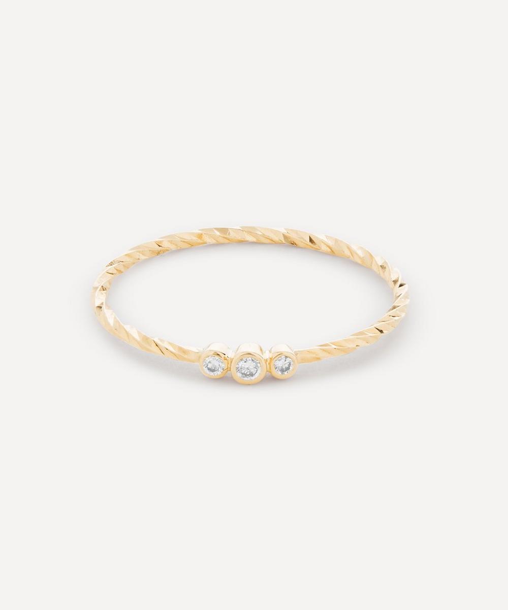 Gold Diamond Cut Jessa Ring