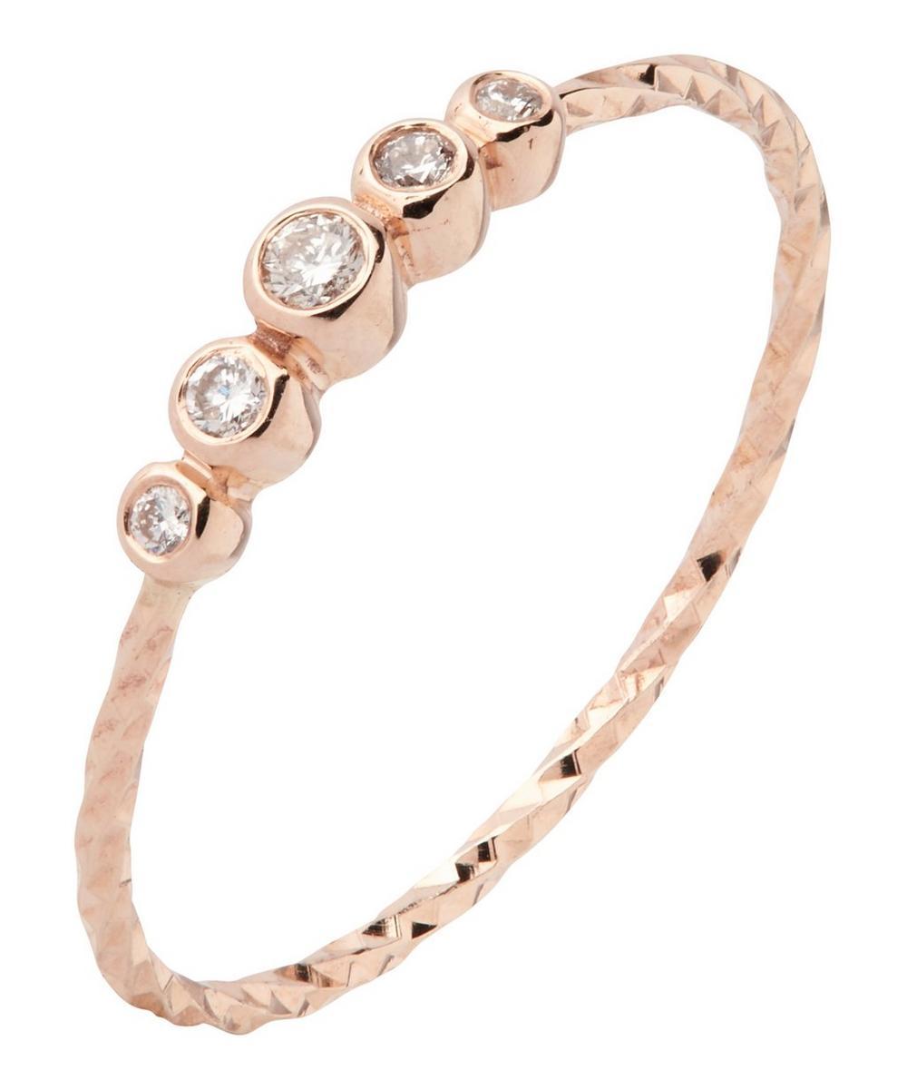 Rose Gold Diamond Cut Ally Ring