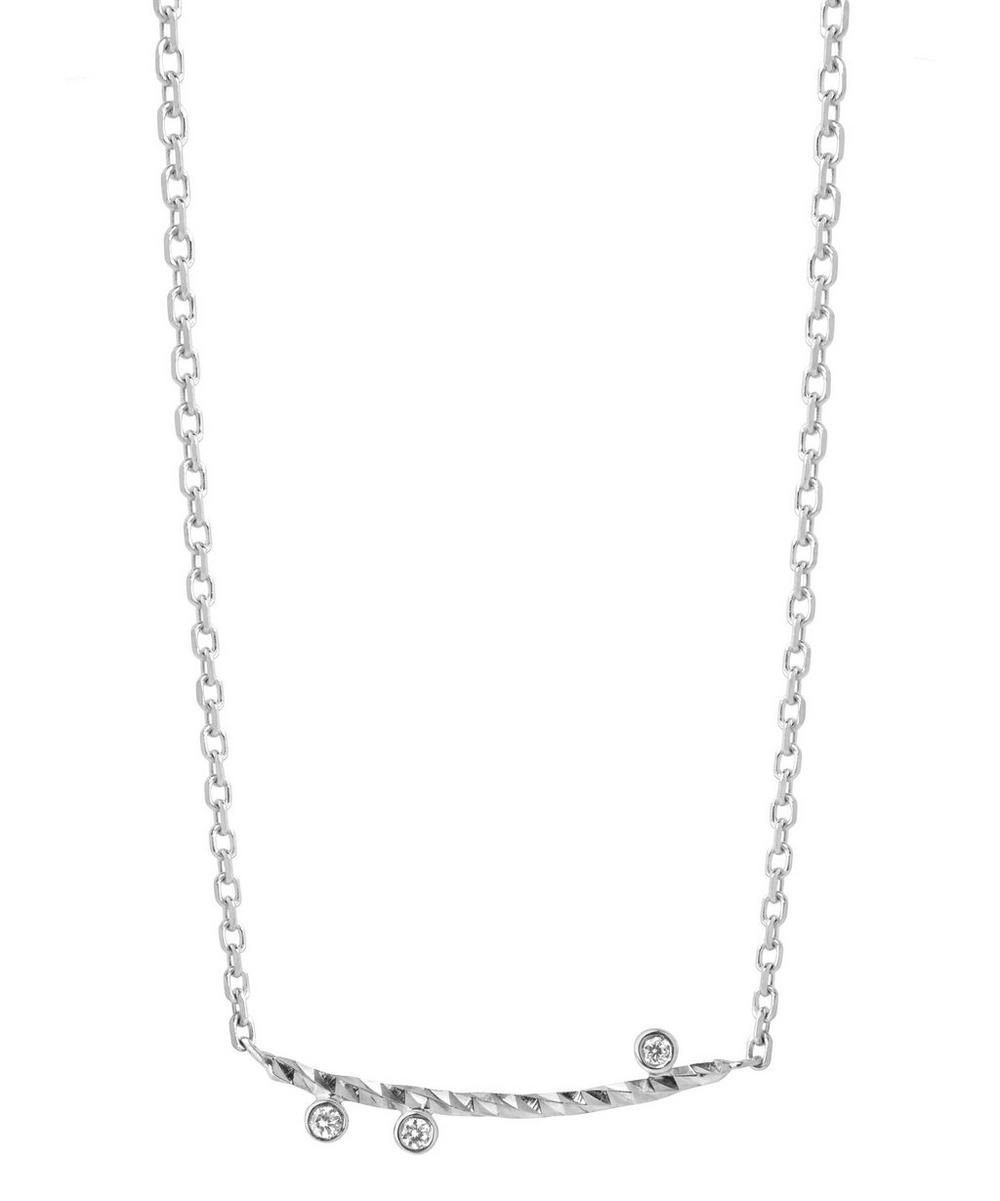 White Gold Diamond Cut Ciara Necklace