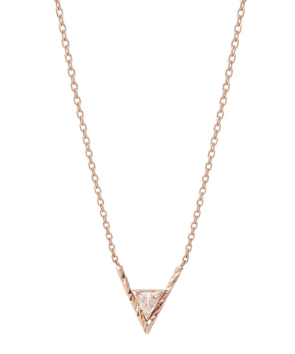 Rose Gold Diamond Cut Viper Necklace