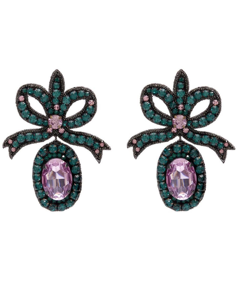 Oversized Crystal Bow Earrings