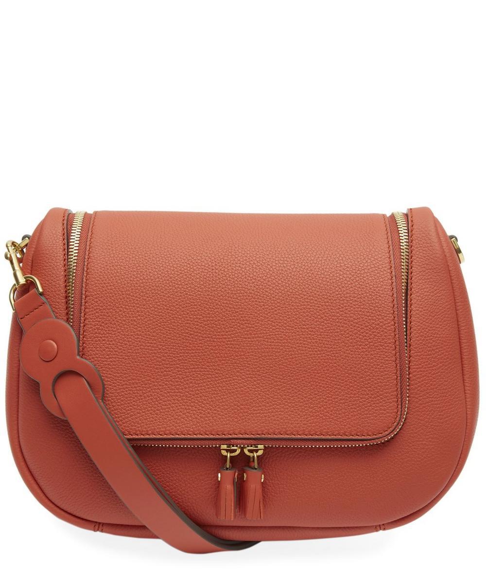 Grained Leather Vere Satchel Bag
