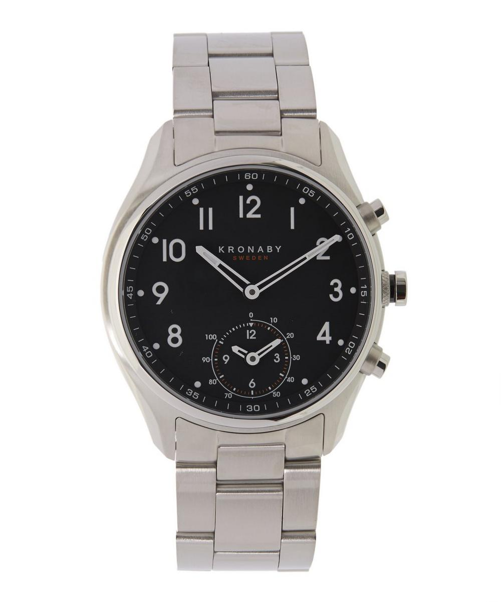 Apex Stainless Steel Metal Strap Smart Watch
