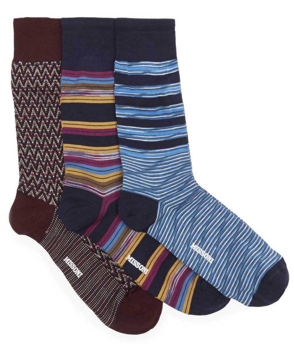 Multi Pattern Socks Pack of Three | Liberty London