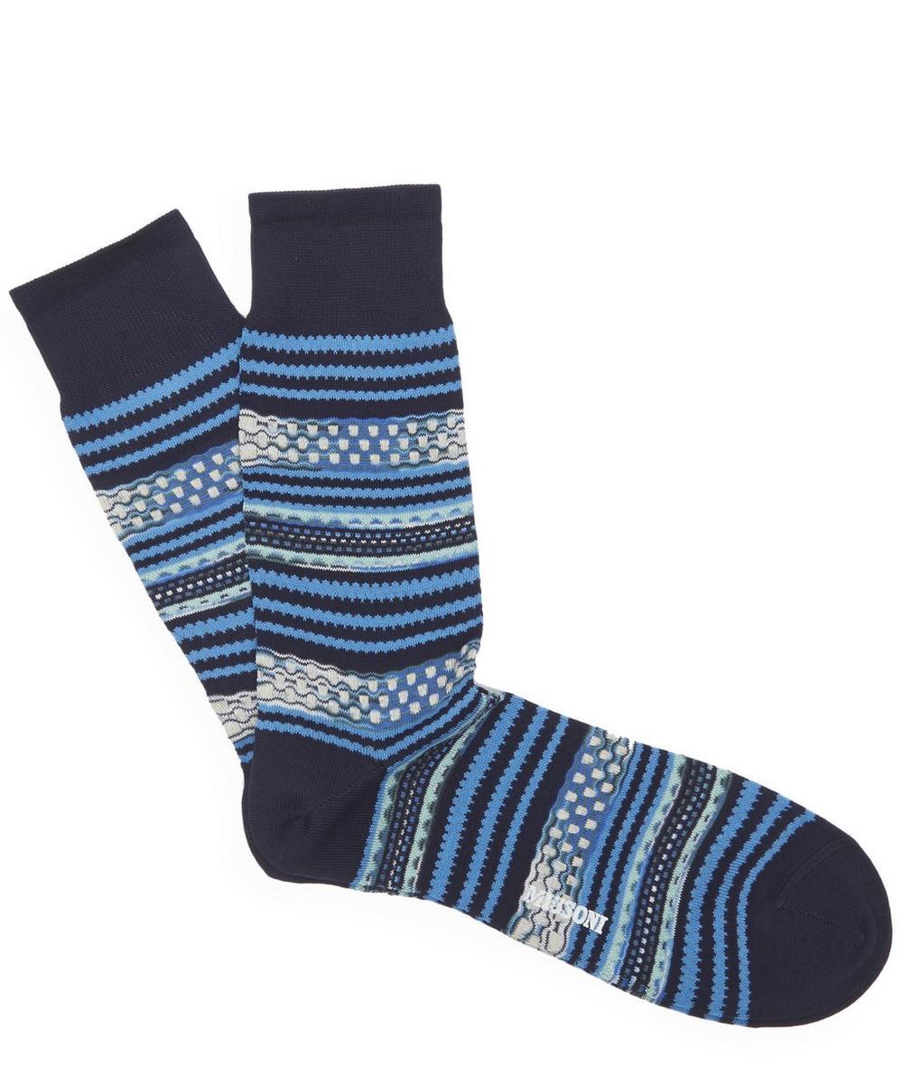 Multi Stripe Dot Socks