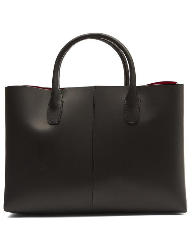 Vegetable-Tanned Leather Folded Tote Bag